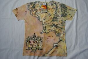 THE-LORD-OF-THE-RINGS-MIDDLE-EARTH-MAP-T-SHIRT-NEW-OFFICIAL-MOVIE-FILM-TOLKIEN