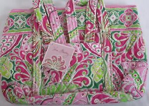 Vera-Bradley-Purse-Handbag-Bag-Betsy-Retired-PINWHEEL-Green-Pink-Paisley-Women
