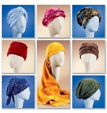 """McCall's 4116 Paper Sewing Pattern Turban Headwrap Hat Chemo  21.5"""" 22.5"""" 23.5"""""""