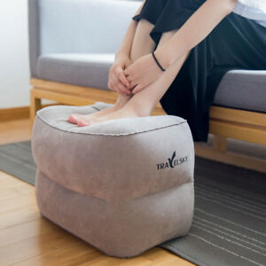 Inflatable Travel Footrest Leg Rest Travel Pillow Airplane