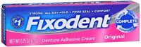 Fixodent Denture Adhesive Cream Original 0.75 Oz (pack Of 2) on sale