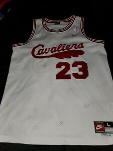 Details about Lebron James Vintage Nike Swingman Throwback Cavs Red and white Jersey #23