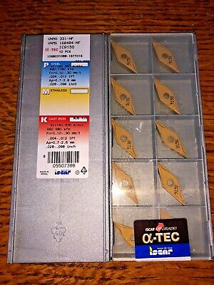 ISCAR CARBIDE INSERTS VNMG 331-NF 160404-NF IC9150 QUANTITY 10