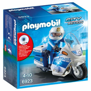 Playmobil-6923-Moto-de-Policia-con-luces-Police-Motorcycle-City-Action