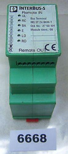Phoenix Contact Remote I O IBS-ST24-BK-M-T 8PT 24 VDC Interbus