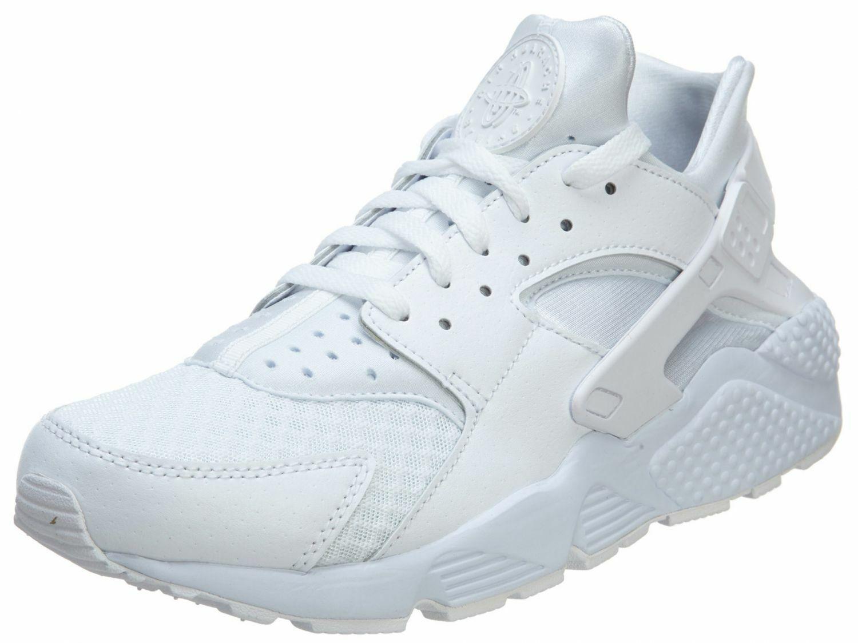 Men's Nike Air Huarache Running shoes White White Sizes 8-13 NIB 318429-111