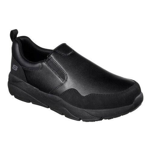 skechers slip on mens work shoes