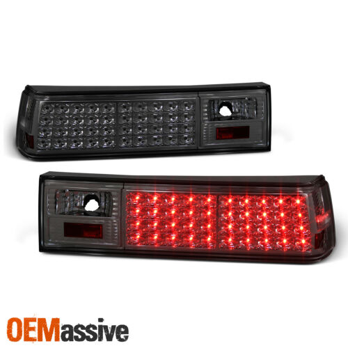 Fits Smoked 87-93 Ford Mustang Full LED Tail Lights Lamps Left+Right