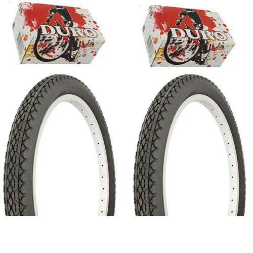 """Duro Bicycle Bike Tires /& Tubes 20/"""" x 2.125/"""" All Black BMX Diamond Style 1PAIR"""