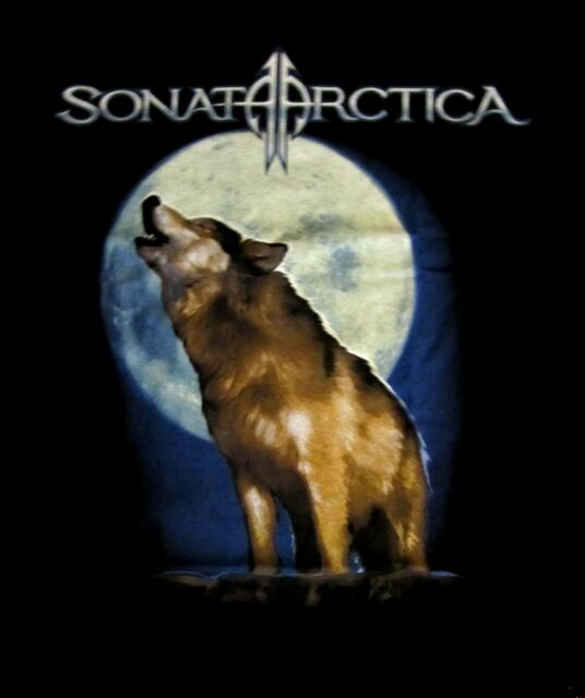 SONATA ARCTICA cd lgo WOLF FADES TO GRAY Official SHIRT XL New OOP days of grays