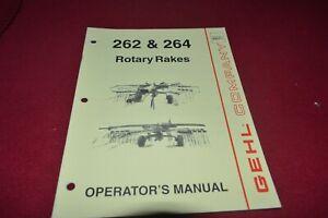 Gehl 262 264 Rotary Râteau Operator's Pièces Manuel Mauricienne-afficher Le Titre D'origine Uhnzohku-08003721-417896216