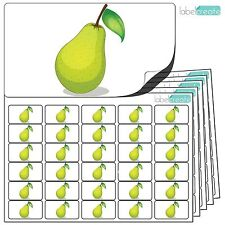 480x Pear Stickers (38 x 21mm) Self Adhesive Fruit Labels By Label Create