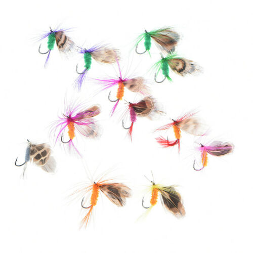 fly trout fishing lurY №/_BE butterfly flies trout freshwater fly fishing 12pcs