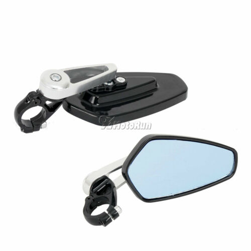 "7//8/"" Handle Bar End Rearview Mirrors For Honda CBR 600 1000 RR YZF R1 R6 R6S FZ1"