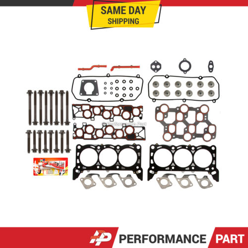 Head Gasket Bolts Set for 01//15//1998-04 Ford Mustang F150 3.8 4.2 OHV VIN 2 4 6