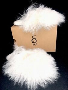 eca6700eecc Details about UGG Australia FLUFF MOMMA MONGOLIAN CLOG White SLIPPERS House  Shoes 1019726