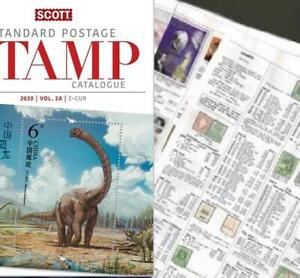 Costa Rica 2020 Scott Catalogue Pages 669-706