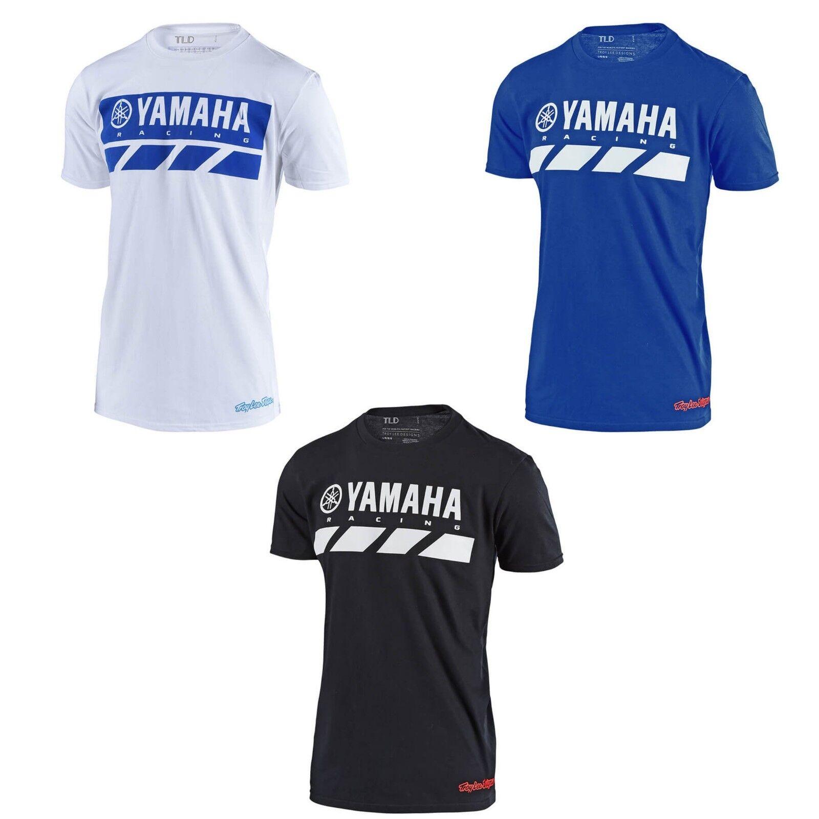 Troy Lee Designs Yamaha RS2 Mens Short Sleeve T-Shirt Blue