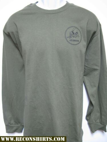 NAVY SEABEES LONG SLEEVE T-SHIRT// NEW// MILITARY// front print only//  NEW