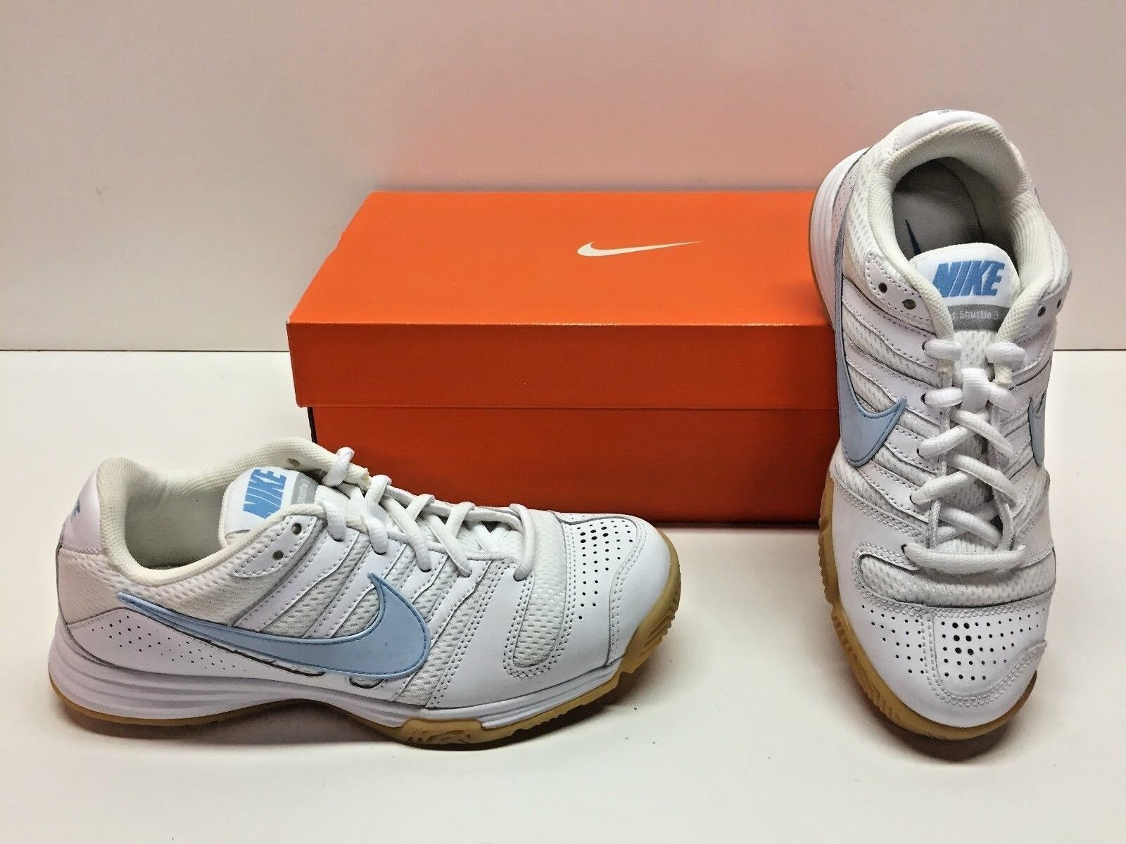 Nike Court Shuttle III Training White Indoor Court Sneakers Shoes Womens 5.5