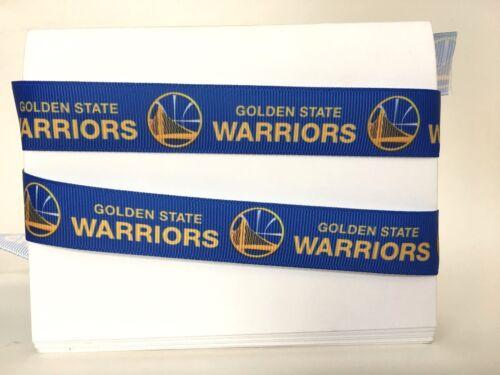 "Golden State Warriors Basketball 7//8/"" Gros-Grain Ruban 1,3,5,10 yards from US"