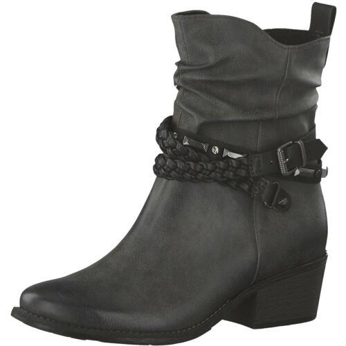Marco Tozzi Damen Stiefeletten Stiefel Boots 2-2-25043-33//226 Grau Grey Neu