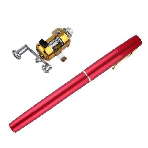Mini Angelrute Köder Teleskop Tragbare Tasche Aluminiumlegierung Pen Pole Z5D4