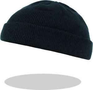 STRICKMÜTZE Mütze Haube Beanie Wintermütze kurz fein gestrickt Strick schwarz