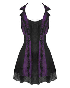 TRIPP-FLEETWOOD-DRESS-GOTHIC-STEAMPUNK-LACE-CHAIN-CORSET-VAMPIRE-BALL-PROM-PARTY