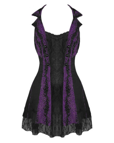 TRIPP FLEETWOOD DRESS GOTHIC STEAMPUNK LACE CHAIN CORSET VAMPIRE BALL PROM PARTY