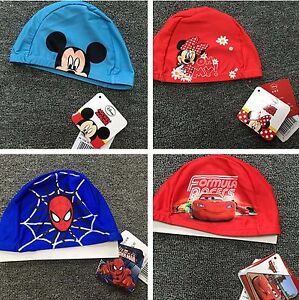 Kids Girl Boys children Spiderman Minnie Mickey Mouse Car Swim Cap beanie hat