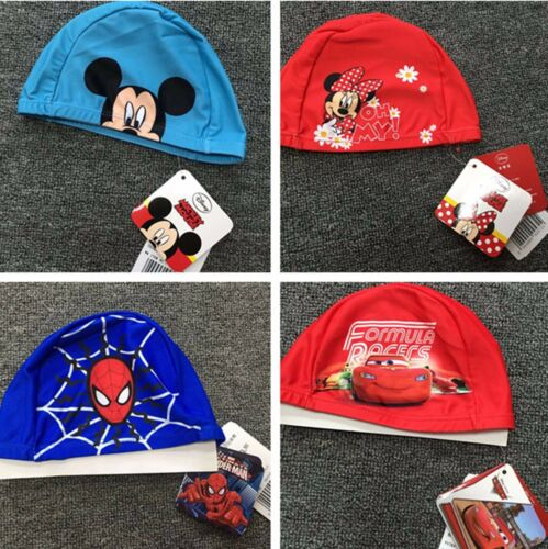 Kids Girl Boys children Spiderman Minnie Mickey Mouse Car Swim Cap beanie hat