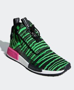 new concept e609f ea865 Details about Adidas Originals Nmd TS1 PK Primeknit Boost Black Green Shoe  Mens 11.5 Or 12 NIB