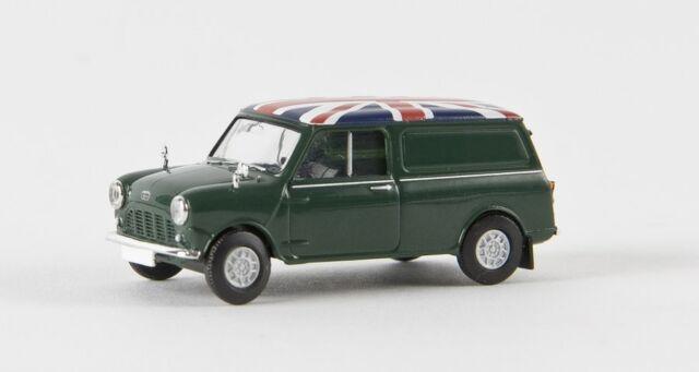 "Brekina 15359 - 1/87 Austin Mini Van ""Union Jack""  Moosgrün  Td - Neu"