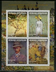 CENTRAL-AFRICA-2020-130th-MEMORIAL-OF-VINCENT-VAN-GOGH-SHEET-MINT-NH