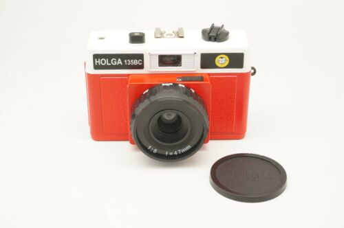 Holga Used 135BC White Red 35mm Film Camera in Excellent Condition discont.