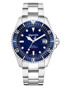 Gigandet SEA GROUND Automatik Herrenuhr Taucher Edelstahl Blau G2-009 NEU