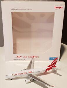 Herpa Wings 1: 500 Air Mauritius Airbus A330-200 Reg.   3b-nbl.   Limité.