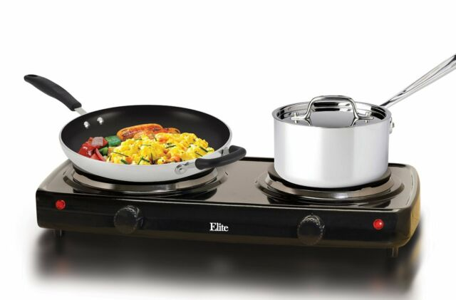 Stove Electric Double Burner Hot Plate Cook-top Dual Temperature 1500 W Cooking