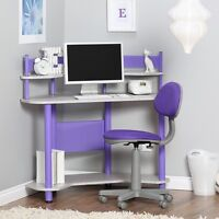 Kids Corner Desk Home Furniture Workstation Computer Top Table Study Room Office