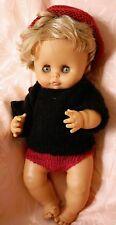 Craquant bébé sexué garçon poupée ancienne  CLODREY 40 cm