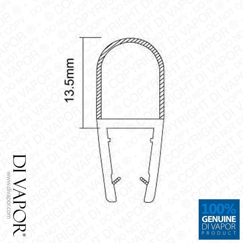 Di Vapor (r) de pantalla ducha sello sello sello de goma   4-6mm 8mm 10mm   13.5mm Burbuja De Vidrio d5745f