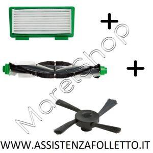 KIT-ORIGINALE-ROBOT-FOLLETTO-VR-100-SPAZZOLA-FILTRO-SPAZZOLE-ASPIRAPOLVERE