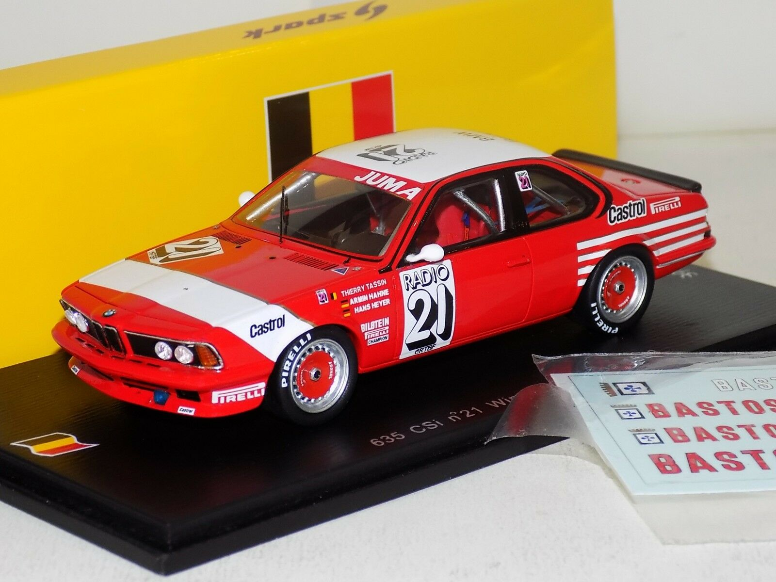 BMW 635 CSi  21 WINNER SPA 1983 TASSIN HAHNE HEYER SPARK LIM. SB064 1 43