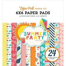 Echo Park ~ SUMMER PARTY ~ 6x6 Paper Pad 24 pcs
