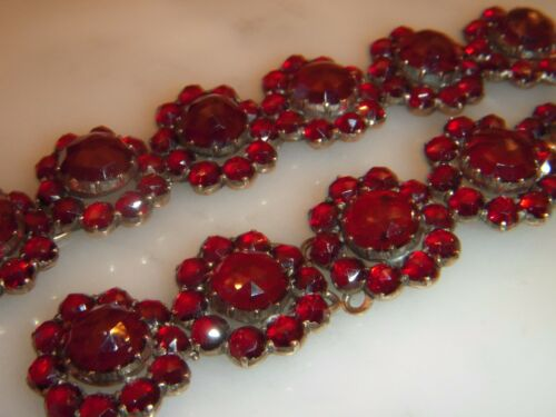A COLLECTION OF ANTIQUE VICTORIAN BOHEMIAN GARNET CLUSTERS