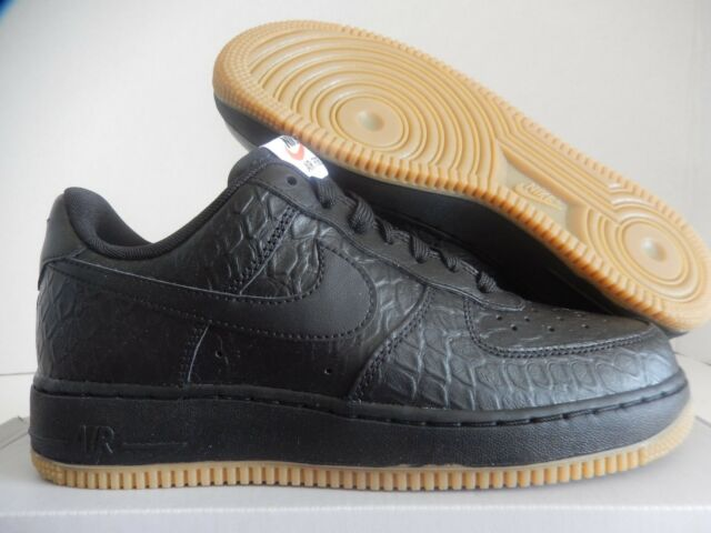 Nike Air Force One Low 08 Lv8 Black Gum Light Brown Crocidile Print ... 12bf5a78c