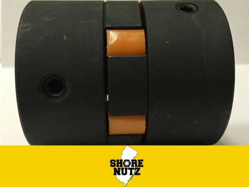 L090 5//8 X 7//8 Flexible 3-Piece L-Jaw Coupling Set with URETHANE Spider JAW
