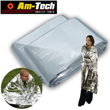 R9I 2 X FOIL Space EMERGENCY BLANKET Camping Survival THERMAL Rescue FIRST AID