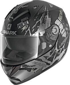 SHARK-Helm-Ridill-Drift-R-schwarz-matt-grau-M-57-58-Sonnenblende-UVP-179-95
